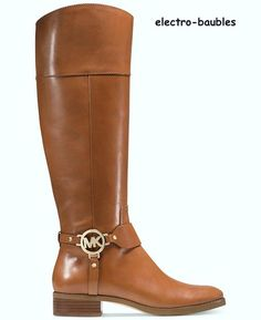 SOLD!!! Michael Kors Fulton Harness Wide Calf Boots in Luggage Size 8.5M - NIB #MichaelKors #Fulton #Any