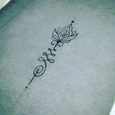 Jolie unalome tattoo dessiné par Miss Voodoo pour mon underboobs ! Je l'adore et j'en suis amoureuse !