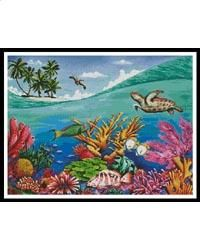 Swell: A Cross Stitch Chart by Artecy Cross Stitch Tropical Fish, Cross Stitching, Sewing Crafts, Larger, Tapestry, Ocean, Craft Ideas, Colour, Embroidery