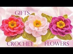 Como tejer flores fácil y rápido en una tira en pocos minutos - Make knitting in minutes, My