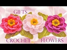 Como tejer fácil y rápido lindas flores Crisantemos - How to make crochet flowers - YouTube