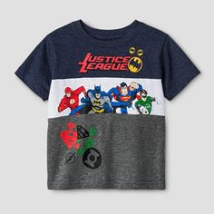 Baby Boys' Justice League Colorblock T-Shirt DC Comics Navy 12M, Infant Boy's, Size: 12 M, Blue
