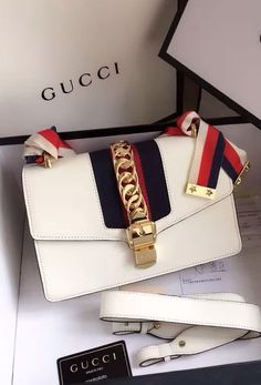 fdb695265e Handbags And Wallets - Gucci Sylvie Leather Shoulder Bag White. Find  details at www. - How should we combine handbags and wallets