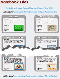 This website has lots of great Notebook files for the SMARTboard. There is a great one for Idioms and a neat Art Multiplication one.