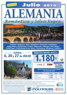 ALEMANIA - Romántica y Selva Negra - salidas 20 y 27 de Julio dsd Mad (8d/7n) p. final dsd 1.310€ ultimo minuto - http://zocotours.com/alemania-romantica-y-selva-negra-salidas-20-y-27-de-julio-dsd-mad-8d7n-p-final-dsd-1-310e-ultimo-minuto/