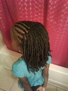 kids twist with real hair