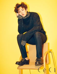 EXO's Chanyeol for Ceci Korea February Photographed by Mok Jung Wook Baekhyun, Park Chanyeol Exo, Exo K, Kim Min Seok, Chanbaek, Chansoo, Boy Bands, How To Look Better, Korean