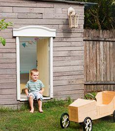cubby house - timber clar