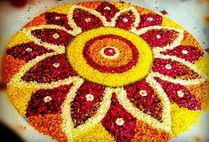Rangoli Designs Flower, Rangoli Designs Diwali, Flower Rangoli, Beautiful Rangoli Designs, Diwali Decorations At Home, Indian Wedding Decorations, Festival Decorations, Hindu Festival Of Lights, Mehndi Decor