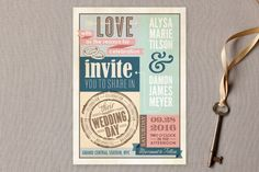 50 invitaciones de boda perfectas para 2015: Las tendencias impresas más cool Image: 23