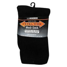 Extra Wide Medical Socks Mens - 1 pr