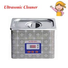 1pc Steel Ultrasound Cleaning Washer Home Appliance Ultrasonic Cleaner with Baths for Dentistry Denture 628A #Affiliate