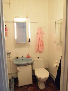 Oma kotini ei ole ikinä valmis, mutta kylpyhuoneeni koki pienen pintaremontin. Kotini pinnat olen itse laittanut uusiksi.