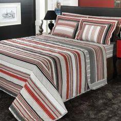 f9886ae04 Jogo de Cama Casal Percal 200 fios 100% Algodão - Granada Vermelho - Dui  Design