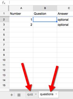 Create a quiz in Google Forms using Google Sheets.