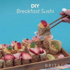 You can make Breakfast Sushi by following this creative food DIY video recipe tutorial.