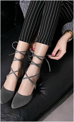 Work to Nightclub Lace Up Gladiator High Stiletto Heel Pumps Pointed Toe Shoes