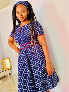 Trendy African traditional shweshwe fashion For 2019 - Fashion - Women's style: Patterns of sustainability African Bridesmaid Dresses, African Dresses For Kids, Latest African Fashion Dresses, African Dresses For Women, African Print Fashion, African Attire, Ankara Fashion, Sotho Traditional Dresses, African Traditional Wear