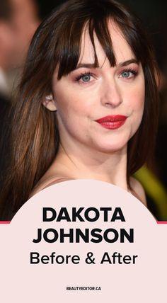 Dakota Johnson, before and after.