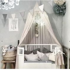 Sparkles and frills for a little girl's room decorated in soothing grey