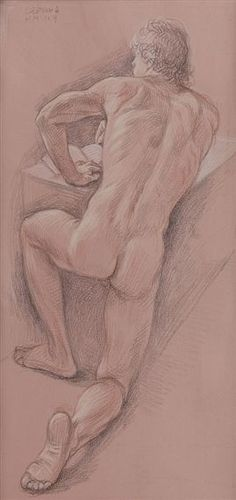 Nude girl and guy drawing #13