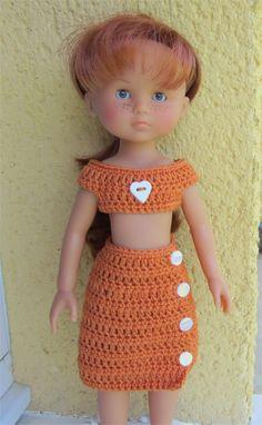 Marie vous présente aujourd'hui une tenue estivale                    Je vous propose les explications      Fournitures  : du coton oran...