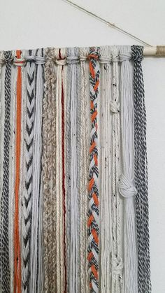 Bohemian Yarn Tapestry, Yarn Wall Hanging - AllAbout Home! Yarn Wall Art, Yarn Wall Hanging, Diy Wall Art, Hanging Tapestry, Tapestry Wall, Fabric Wall Hangings, Fabric On Walls, Fabric Wall Decor, Macrame Projects
