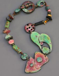 Polymer Clay Necklace | Chunky Necklace | Terri Wlaschin | Jewelry Making Journal