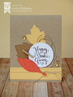 Lil' Inker Designs October Release Blog Hop card by Laura Williams featuring Leaf Love Dies and Leafy Greetings stamp set