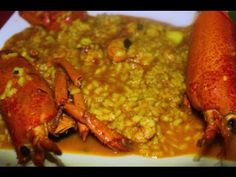 Arroz con bogavante (Thermomix) - YouTube