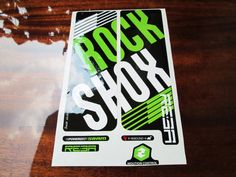 Rock shox style Fork Replacement/Colored sticker on от Velomoto