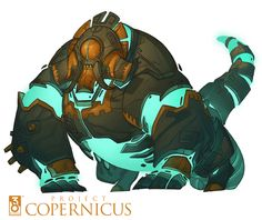 Copernicus Art - Bellowing Golem by *nicholaskole on deviantART - Sven's Comment: WOW! love thems bulky creature ghost mecha thingies :D