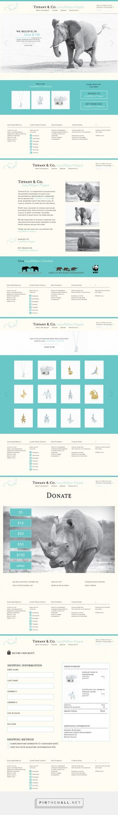 Ivory Ribbon Project Web Design by Shannon Mckenna | Fivestar Branding Agency – Design and Branding Agency & Inspiration Gallery
