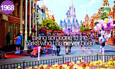 taking someone to the parks who has never been
