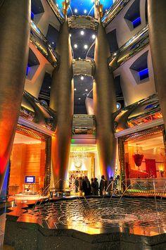Afternoon tea, like everything at the Burj Al-Arab Hotel, Dubai, was the height of luxury. Dubai Hotel, In Dubai, Dubai Golf, Dubai Uae, Abu Dhabi, Burj Al Arab, Dubai Travel, Luxury Travel, Hotels And Resorts