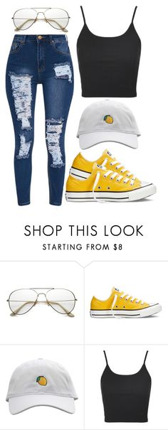 """600"" by francescas22 on Polyvore featuring ZeroUV, Converse and Topshop"