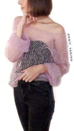 Crochet Shawl, Knit Crochet, Hand Knitting, Knitting Patterns, Diy Crafts Knitting, Kurta Designs Women, Angora, Mohair Sweater, Crochet Slippers