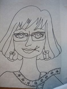 Shirley - the drawing by mamacjt, via Flickr