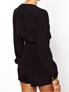 Black Long Sleeves Playsuit – Lyfie