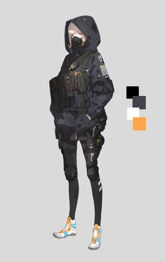 neco on - Best Image Portal Mode Cyberpunk, Cyberpunk Anime, Cyberpunk Fashion, Female Character Design, Character Design Inspiration, Character Concept, Character Art, Anime Outfits, Anime Military