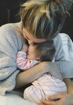 Sweetest new mom and baby picture! Newborn hugs ahhh!