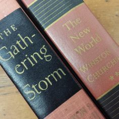 The New World, The Gathering Storm by Winston S. Churchill, Hardcover Books by FeeneyFinds on Etsy