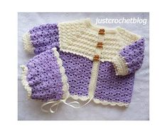 Crochet sweet two piece uk a free crochet pattern for a chest month baby, made in a uk double knitting yarn on a crochet hook. Crochet Baby Cardigan Free Pattern, Crochet Baby Sweaters, Baby Sweater Patterns, Crochet Coat, Crochet Baby Clothes, Baby Patterns, Crochet Hooks, Free Crochet, Little Girls