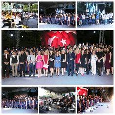 Özel Mürüvvet Evyap Ortaokulu öğrencileri kampüs bahçesinde düzenlenen törenle lise hayatlarına uğurlandılar.