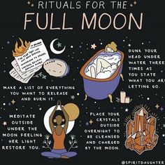 Witch Spell Book, Witchcraft Spell Books, New Moon Rituals, Full Moon Ritual, Full Moon Spells, Full Moon Meditation, Witchcraft For Beginners, Moon Witch, Eclectic Witch