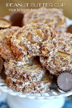 These Peanut Butter Cup Krispie Treats Pinwheels are my new favorite treat and sure to be a hit with the peanut butter lover in your life!