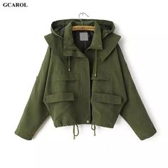 Women Euro Style Hoodies Trench Fashion Casual Draw String Coat Spring Autumn Girls Oversized Street Wear Short Coat