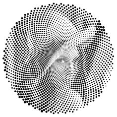scaling pattern using gradient deform Stippling Art, Abstract Line Art, Generative Art, Illusion Art, Dots Design, Photoshop, Optical Illusions, Body Art Tattoos, Pop Art