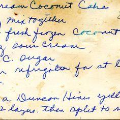 Coconut cake with sour cream recipe