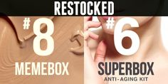 Bits and Boxes: Memebox RESTOCK #8 and Superbox #6 Plus Promo Code...